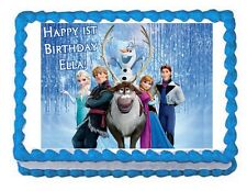FROZEN edible party cake topper decoration frosting sheet image