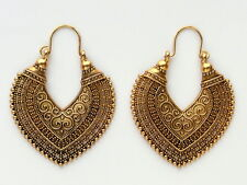 Ethnic Bollywood Antique Gold Heart Hoop Fashion Jewellery Earrings