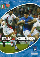 ITALY v ENGLAND 2010 RUGBY PROGRAMME SIX NATIONS