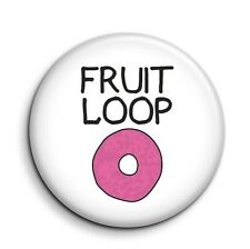 Fruit Loop Cute Funny 38mm/1.5 inch Novelty Button Pin Badge