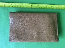 OLD RETRO VINTAGE 50s BIFOLD BROWN REAL PIGSKIN LEATHER CARD CASE MONEY WALLET