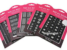 Hollow Nail Art Stencil Polish Tips Sticker Decal DIY Decor Template Guide Large