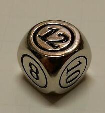 1x Command Zone Metal Dice Silver Color for Commander EDH Tiny Leaders Magic MTG