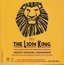 LION KING Selections From Original Broadway Cast Recording CD - OZ Promo