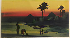 Louise Bovet paysage oriental gouache 2de moitié du XXème siècle