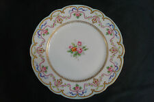 6 D & C Limoges Hand Painted Double Gold Pink Rose Garland Plates C. 1894 - 1900