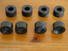 8 Black Plastic Nylon M10 Spacers 20mm O/D 10.2mm I/D x 10mm Long