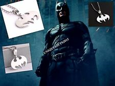 Batman Steel Pendant Chain Dark Knight Necklace Locket for Men Women GIFT