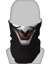 HALLOWEEN WHITE JOKER DESIGN SNOOD NECKTUBE NECKWARMER FACE MASK PAINTBALLING