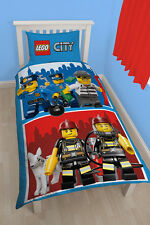 LEGO City Heroes Kinder Bettwäsche Bettgarnitur Panel Set Kids 135x200 neu