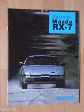 Mazda rx-7 (serie fb2) folleto/brochure/depliant, French, F, 4.1984