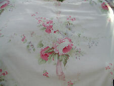 Yuwa Vintage Look Large Rose Bouquets on Pale PINK Cotton Fabric BTY