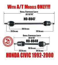 Front Left & Right CV Shaft Axles Honda Civic 92-00 & DEL SOL 93-97 USA ONLY!!!