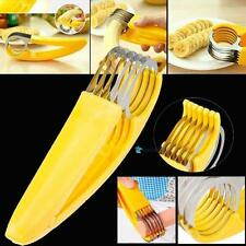 New Stainless Steel Cutter Fruit Cucumber Banana Sausage Slicer kitchen Tools TR