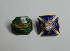 Vintage H.W miller Scripture union  and an international bible readers asc badge