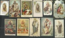 11 Estampas antiguas de la Virgen del Carmen santino holy card image pieuse