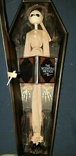 Nightmare Before Christmas 16in tall Pajama Jack Skellington Doll in Coffin