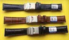 Lot de Bracelets De Montre 18mm ,3 Couleurs Différentes ,Cuir , Boucles