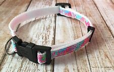 Lilly Pulitzer Dog Collar In Let's Cha Cha Size Small