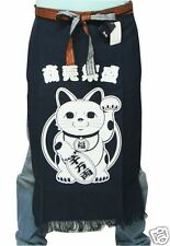 Japanese Traditional Working Apron Cotton Maekake Manekineko Beckon lucky cat