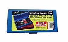 New MTM 100 Rd. Rimfire .22 -.17 Cal. Ammo Box Blue SB-200-20