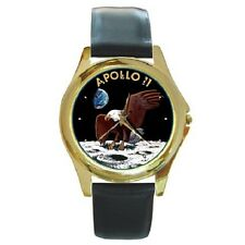 APOLLO 11 INSIGNIA NASA USA ROUND WRISTWATCH **FANTASTIC ITEM**