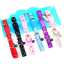 Cat Collar with bell and quick release safety clip Various Colours