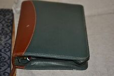 Franklin Covey Classic Green & Brown Binder 11/2 In.Ring, Leather.