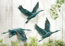 Wall Metal Art Birds Flying Decor Bird Sculpture Hanging Yard Outdoor Fence NEW