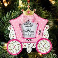 Princess Carriage Picture Frame Personalize Christmas Tree Ornament
