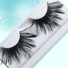 Long Black Big Feather False Eyelashes Eye Lash For Nightclub Cosplay Makeup #13