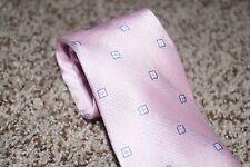 "NWT Michael Kors Pink Blue Polka Dot Classic Slim Mens Neck Tie 3 1/4"" Wide"