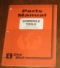 Ditch Witch Parts Manual Down hole Tools Book