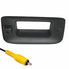 Silverado Sierra Black Tailgate Handle Backup Camera 2007-2013 w/ KEY HOLE PLUG