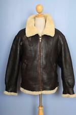 Vtg B-3 Sheepskin Leather Air Force Flight Jacket Size Medium