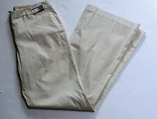 new york & co 10 Tall flare pants summer stretch 7th avenue beige white stripe