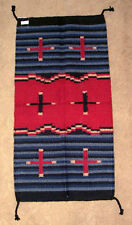"Throw Rug Tapestry Southwest Western Hand Woven Wool 20x40"" Replica #367"