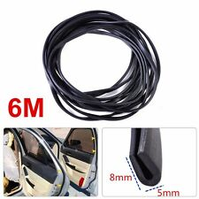 "20ft Soft U Channel Seal Rubber Edge Trim Weatherstrip Strip 1/4"" 6.5mm Deep New"