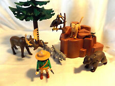 Playmobil North American Wilderness Animal set #3228 w/ Park Ranger, Moose, Bear