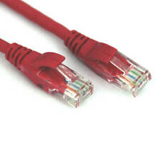 VCOM NP511B-7-RED 7ft Cat5e UTP Crossover Patch Cable (Red)