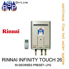 RINNAI INFINITY TOUCH 26 - 50 DEGREES PRESET - LPG