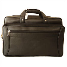 ZINT Genuine Leather Laptop Bag Men's Briefcase Black Gift For Him