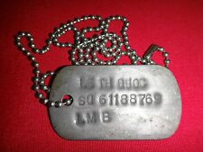 Vietnam War Military ID Dog Tag + Ball Chain ARVN Army Soldier Named LE TH QUOC