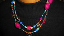 BEAUTIFUL PREMIER DESIGN JEWELRY ((( TROPICAL PUNCH))) NECKLACE COLORFUL