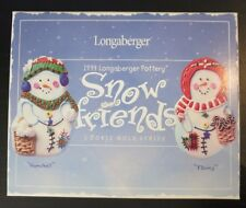 """Longaberger 1999 Snow Friends """"Flurry"""" and """"Snowball"""" Cookie Mold Series - NIB"""