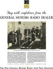 General Motors 1930 - GM Ad - GM Radio - Buy with confidence from the General Mo