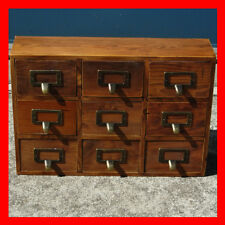 French Provincial Timber Pigeon Hole Mounted Chest of 9 Drawers Storage NEW