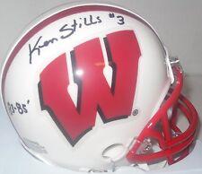 Badgers KEN STILLS SR. Signed Mini Helmet w/ 1980-85  - Packers Safety