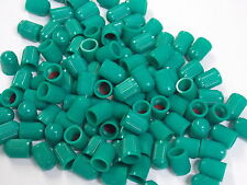 Tire Valve Stems Plastic Caps Green (Nitrogen) 100 qty WITH SEAL