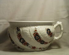 Antique Dunn Bennett & Co. Earthenware MARGUERITE Pattern Open Chamber Pot